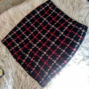 Ann Taylor wool/rayon viscose mini skirt